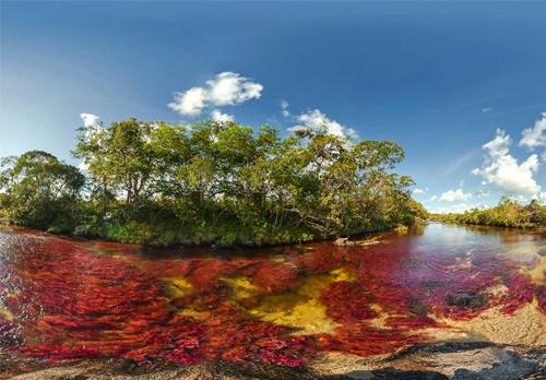 """来自大自然的色彩,神秘的""""彩虹河"""""""
